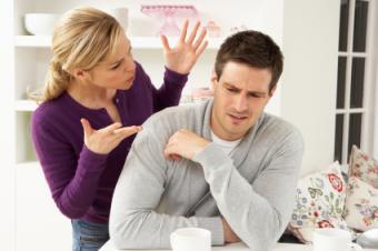 Negative woman confronting her Sagittarius partner