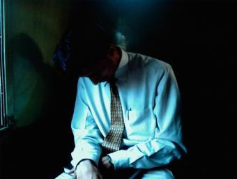 Businessman in shadows