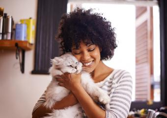 woman with kitty