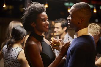 Couple Enjoying Party