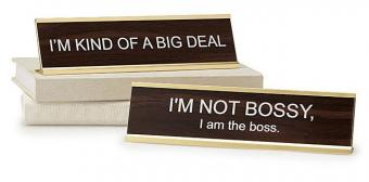 Big Personality Desk Signs at Uncommongoods