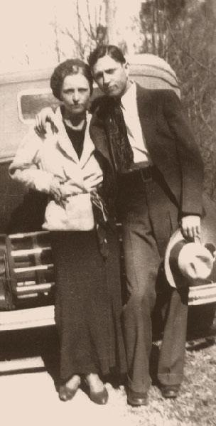 Clyde Barrow and Bonnie Parker