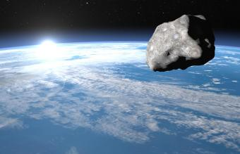 Meteor upon earth