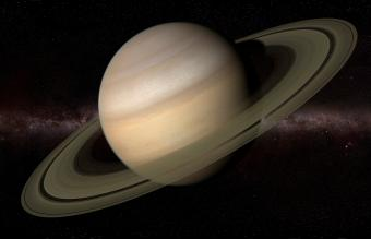 The planet Saturn