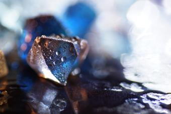 gemstone with drops of water