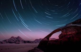 stars in the Wadi Rum desert