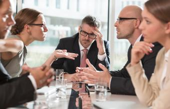 Business people having an argument