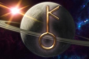 Chiron zodiac horoscope symbol and planet