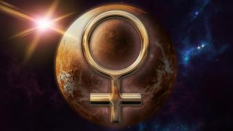 Gold Venus zodiac horoscope symbol