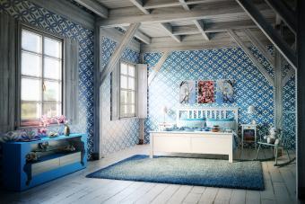 Cozy Blue Themed Bedroom