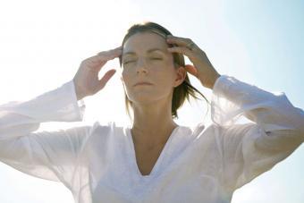 Woman feeling mystical energy