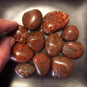Jasper polished stones