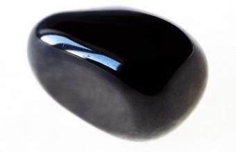 polished black Onyx gem stone