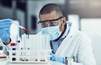 male scientist working