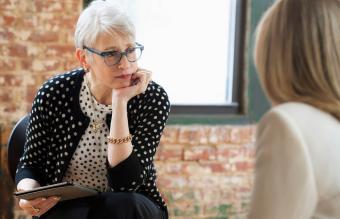Woman psychologist