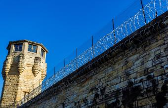 Guard Tower on Prison Walls