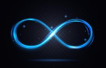 Shiny infinity symbol