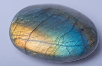 Rounded Labradorite stone