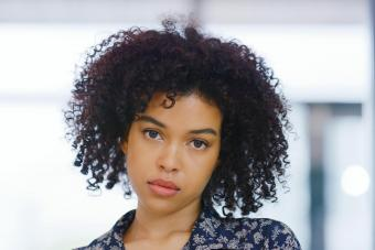 serious looking young woman