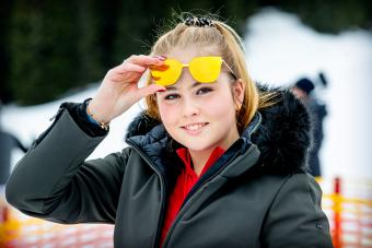 Princess Amalia of The Netherlands during the annual photo call in Lech, Austria- Getty Editorial Use