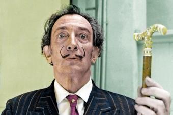 Spanish Catalan surrealist painter Salvador Dali