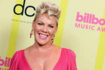 P!nk poses backstage for the 2021 Billboard Music Awards - Getty Editorial Use