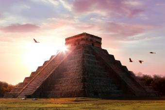 Archaeological complex Chichen Itza. Mayan pyramid Temple of Kukulkan. Mexico. Yucatan.