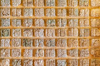 Mayan Alphabet. Examples of this hieroglyphic