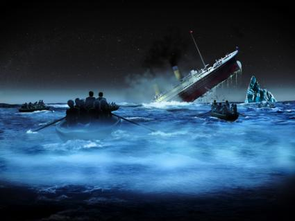 Survivors watching Titanic sink; © Philcold | Dreamstime.com