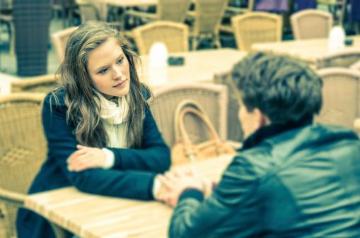 Couple in conversation