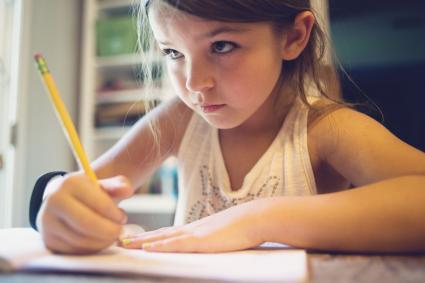 Capricorn girl doing homework