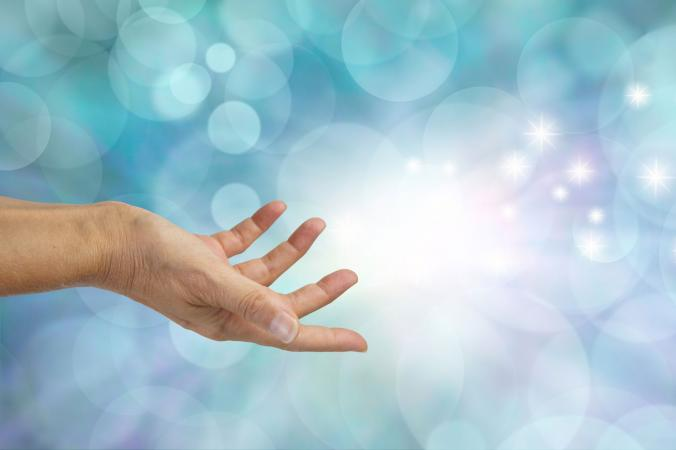 Reiki healing using hands