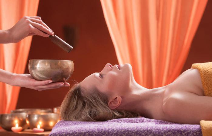 Woman in spa having relaxation treatment