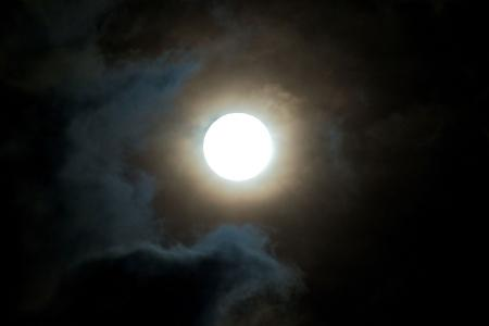 Full moon in night sky
