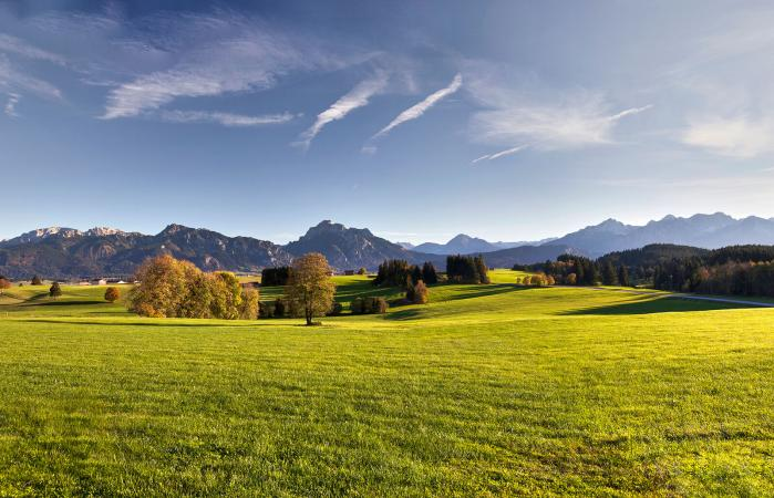 Scenic landscape of Bavaria