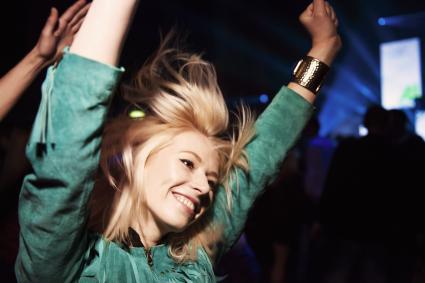 Woman having fun at a party