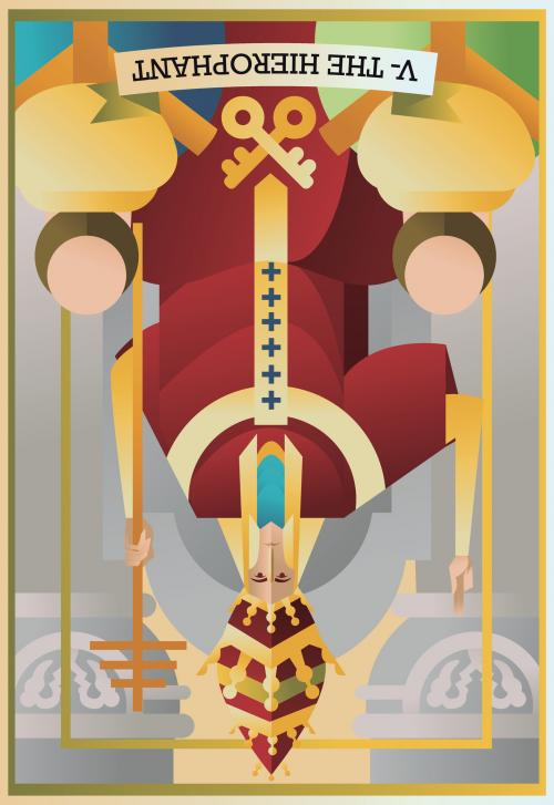 Hierophant card reversed