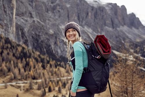 Adventurous woman hiker
