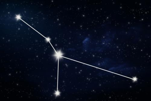 Drawing of the Cancer constellation