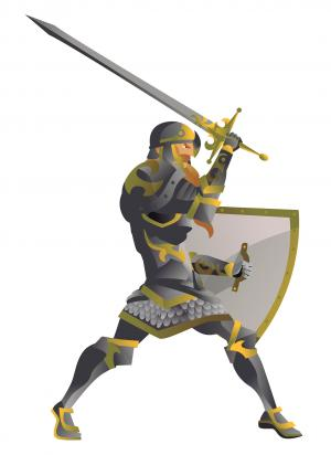 knight with sword and shield