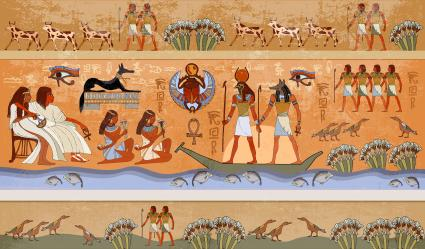 Ancient Egypt scene, mythology