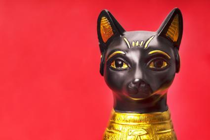 Bibelot of the black egyptian cat