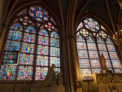 Stained glass windows of Notre-Dame Cathedral