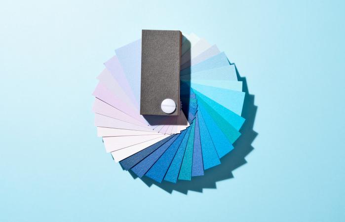 Blue Paper Color Swatch
