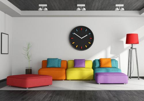 Colorful living room furnishings