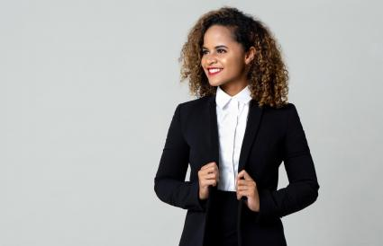 businesswoman in formal clothing