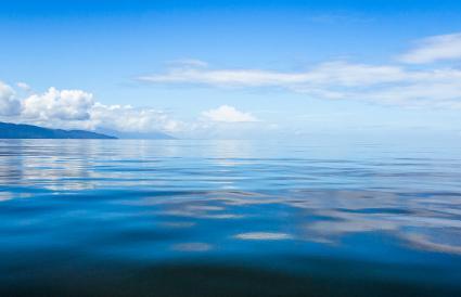 Glassy sea off Maroantsetra
