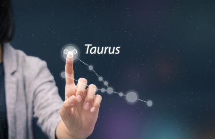 Woman Touching Astrology Sign
