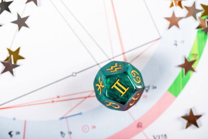 Gemini dice on natal chart