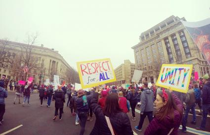 Women's March with Respect